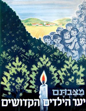 En mindeplakat for børne martyrerne