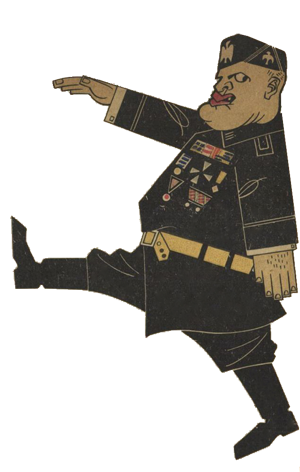 Il Duce - Hollandsk karikatur