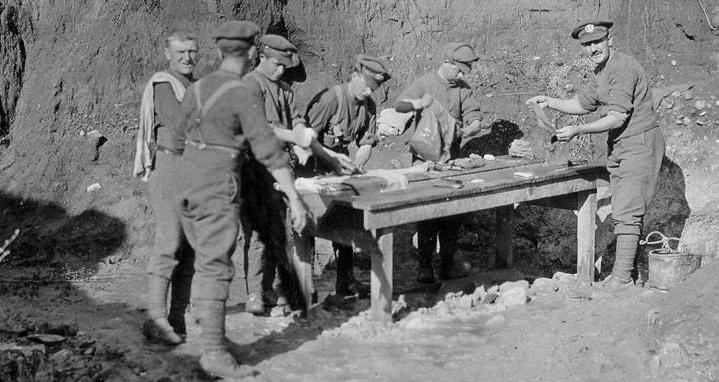 Engelske soldater vasker